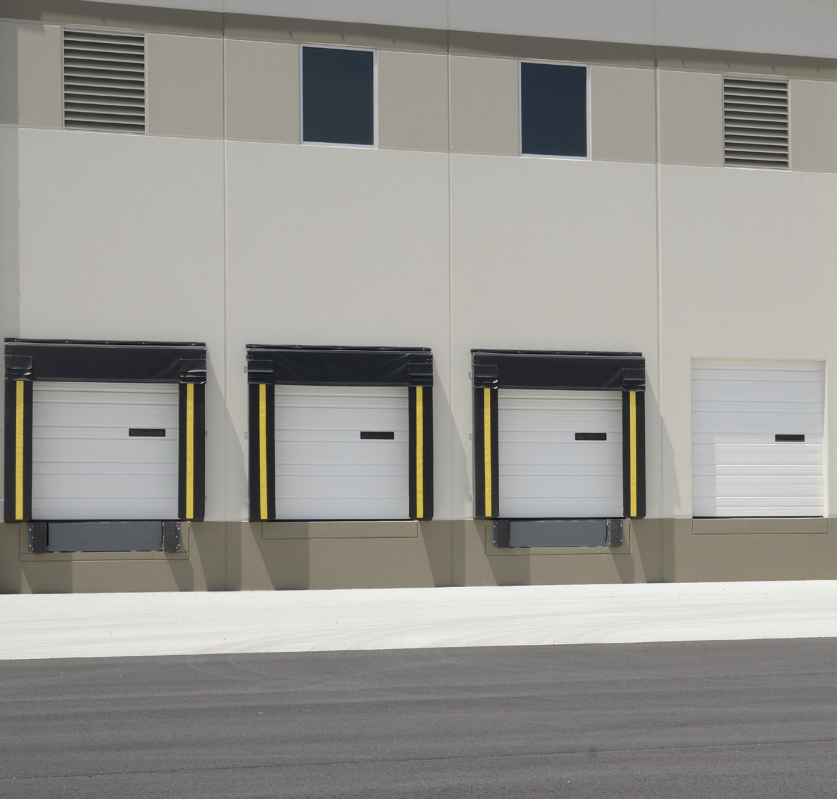 Ribbed Panel Commercial Garage Door