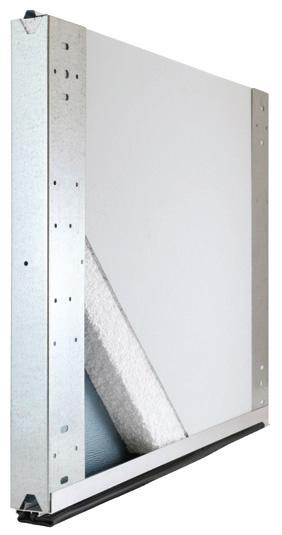 non-insulated garage door panel cross-section