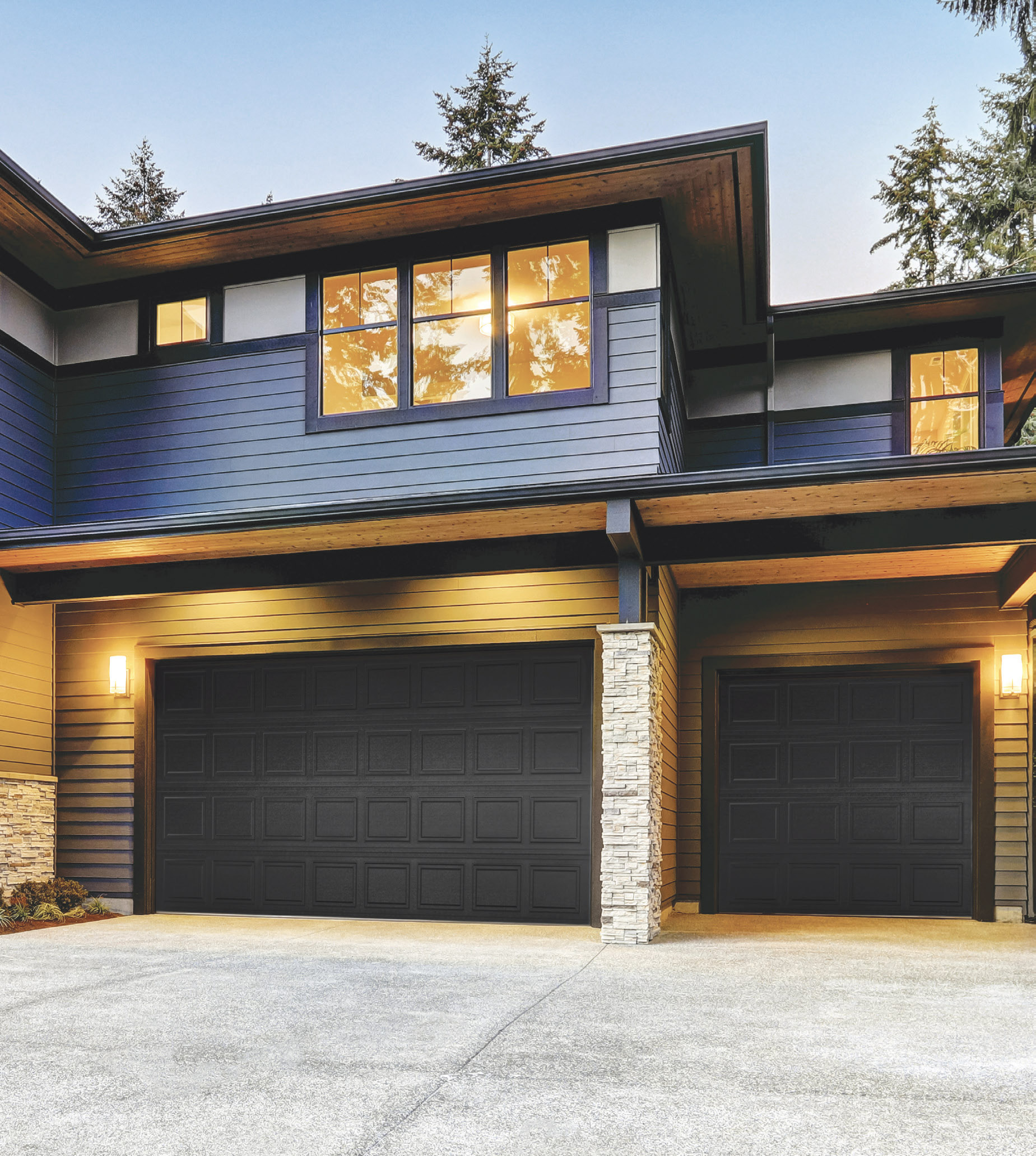 Modern Garage Doors In An Astonishing Protection: Legacy Collection Classic Raised